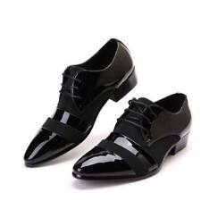 Formal Shoes Mens PU Leather Pointy Toe Dress Office Lace Up Black 711026 Shoes