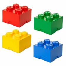 LEGO Storage 4 BRICK RED BLUE GREEN YELLOW