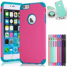 Shockproof Rubber Hard PVC Heavy Duty Cover Case Skin For Apple iPhone 6 6s Plus