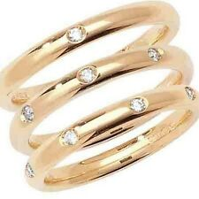 9ct or 18ct Yellow Gold Diamond Set Court Wedding Ring - Widths 2.5mm to 4mm