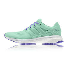 adidas Energy Boost ESM Womens Green Cushioned Running Sports Shoes Trainers