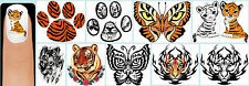 60x TIGER Nail Art Decals + Free Gems Animals Print Paw Butterfly Butterflies