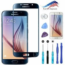 Blue Front Outer Screen Glass Lens Replacement for Samsung Galaxy S6 / Tool Kit