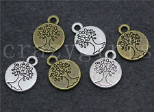 10/50/260pcs Tibetan Silver Beautiful Life tree Jewelry Charms Pendant 15x12mm