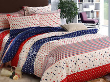 Moon&Star Quilt Duvet Doona Cover Set Single/Queen/King Size Bed 100%Cotton New