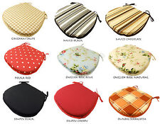 D-SHAPED DINING CHAIR SEAT PADS CUSHIONS - GARDEN KITCHEN - TIE ON & CHEAP PRICE