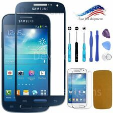Blue Front Screen Glass Lens Replacement for Samsung Galaxy S4 Mini / Tools Kit