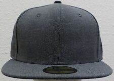 NEW ERA 59FIFTY 5950 FITTED GRAPHITE BASICS PLAIN BLANK BASEBALL CLASSIC CAP HAT