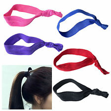 Fashion Girl Women Casual Knotted Simple Style No Crease Hair Ties 10pcs 30pcs