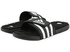 Men's Adidas Originals 078260 Adissage Slide Sandal  black/white Brand new