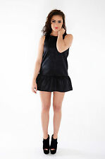 NEW LADIES WOMENS PEPLUM MINI SHORT EVENING PARTY DRESS SIZE UK 10-16