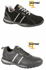 New Mens Grafters Lightweight Steel Toe Cap Safety Trainers Work Shoes Size 6-12