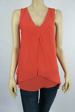 Katies Ladies Sleeveless Layered Top size 10 Colour Flame Red