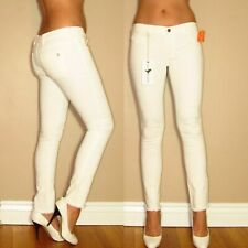 $196 MiH Made In Haven Vienna Super Skinny Raw Hem Leg Low Rise White Jeans 30