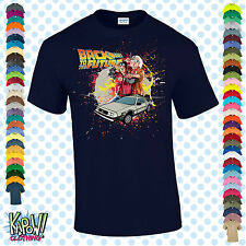 BACK TO THE FUTURE Men's T-SHIRT Delorean Marty McFly Hoverboard Gift Film S-5XL
