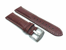 Tan Leather Alligator Watch Strap Band 18mm 20mm 22mm 24mm 26mm Fits Breitling