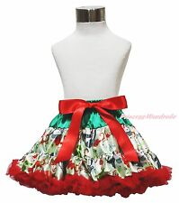 Xmas Christmas Snowman Red Girls Pettiskirt Dress Dance Party Tutu Skirt 1-8Year