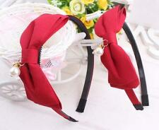 Fashion Women Korean Hair Jewelry Hair Hoop Cute Cloth Bow Beading Headband U185