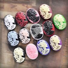Oval Lolita Skull Assorted Vintage Cameo Resin Cabochons fit Cabochons Settings