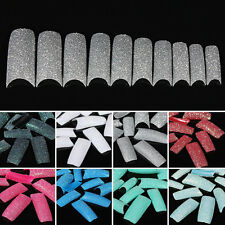 100pcs Acrylic Nail Art Chic DIY Colors Glitter Twinkle Slice French False Tips