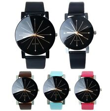 Classic Fashion Analog Dress Formal Leather Strap Wrist Watch For Ladies & Gents