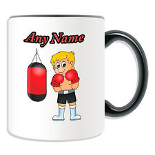 Personalised Gift Boxing Boy Mug Money Box Cup Kung Fu Boxer MMA Name Tea Coffee