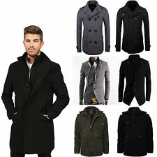 Mens Jackets Coats Long Short Warm With Zip Button Long Sleeve Stylish Slim Fit