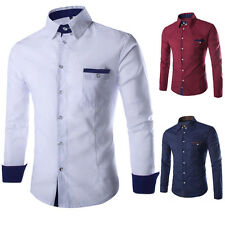 Mens Casual Button Down Casual Shirt Slim Fit Long Sleeve Formal Dress Shirts