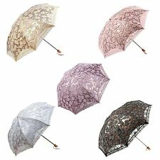 Brand New Compact Lace Wedding Parasol Folding Travel Sun Umbrella UV Block