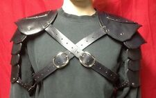 Leather Shoulder Armor Spaulders Pauldrons Cosplay LARP Steampunk Theater Stage