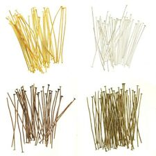 Lots100 pcs Silver Golden Copper Bronze Head/Eye/Ball Pins Findings 15-75MM