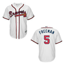Majestic Men's Atlanta Braves #5 Freddie Freeman Home White MLB Jersey