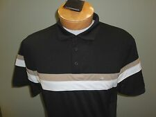 NEW FALL J. LINDEBERG JOAKIM Regular Polyester Golf Polo Shirt, BLACK, X-LARGE