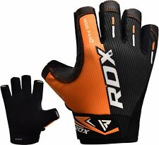 RDX Weight Lifting Gym Pro Gloves Half Finger Training Workout Grip Leather