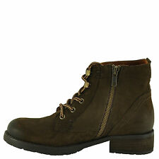 Steve Madden GOBBIN Brown Women's Leather Lace Up Leather Booties