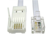 BT to RJ11 Telephone Modem High Speed Cable Lead  Fax Router Phone Sky Box LOT