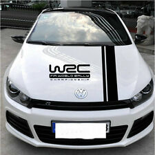 1pc auto decoration vinyl WRC car sticker auto hood racing stripes decal Emblem