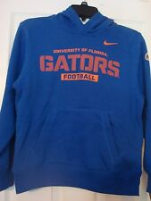 "NCAA NIKE FLORIDA GATORS BOY'S BLUE ""GATORS FOOTBALL""  HOODED SWEATSHIRT NEW"
