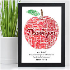 Best Teacher Gift - Personalised Thank You, End of Term, Christmas Present Child