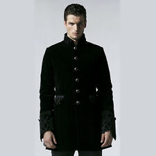Coat Jacket Black Gothic Manteau Veste Noir Punk Rave Vampyr Y-555 Gothique
