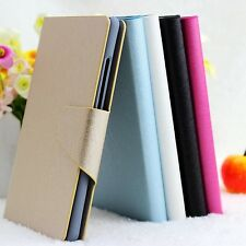 For Sony Xperia Acro S LT26w Luxury Silk PU Leather Flip Wallet Case Cover