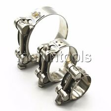 Select from 17 - 252mm Turbo Silicone Hose T-Bolt Clamp 304 Stainless Steel