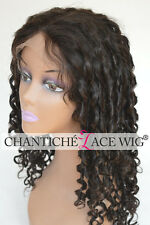 Human Hair Curly Wigs Indian Remy Front/Full Lace Wigs 6A Oprah Curl Black Women