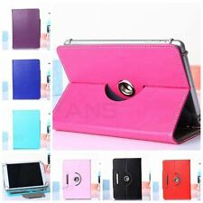 New Pu Leather 360 Rotating Flip Folio Stand Case Cover For Android Tablet PC