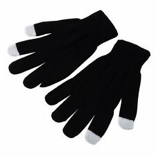 Unisex Black Magic Gloves Touchscreen iPod iPhone Tablet iPad Soft Warm Glove UK