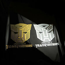 New Transformers Autobot Engraving metal Logo decals Protect Sticker