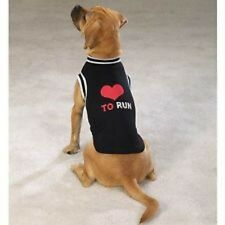 Black Love to Run Dog Jersey Tee Shirt Casual Canine Choose Your Size Ships FREE