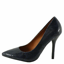 X2B Patty 1 Blue Snake Women's  Classic Pointy Toe Career Pumps