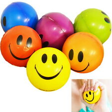 Happy Smile Face Anti Stress Relief Sponge Foam Ball  Wrist Squeeze Exercise SL