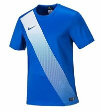 NIKE Youth Dri-Fit Soccer Sessi Jersey S/S Blue Shirts Junior Team 645920-463